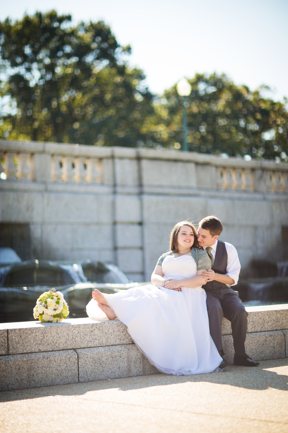 us capitol fountains wedding bride groom