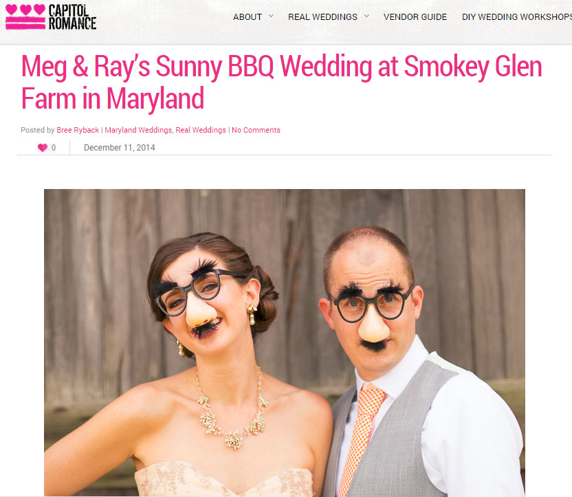 Meg and Rays sunny BBQ wedding at Smokey Glen Farm in Maryland