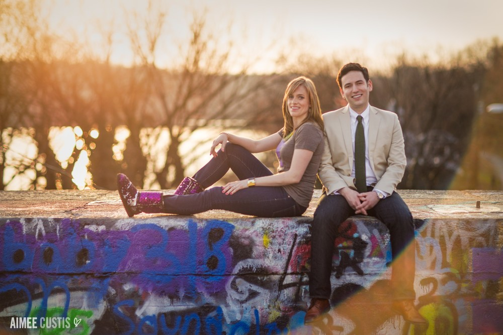 dc graffiti engagement session