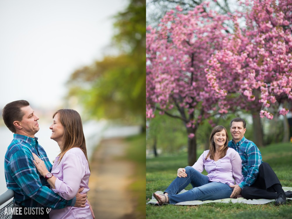 romantic DC engagement photography