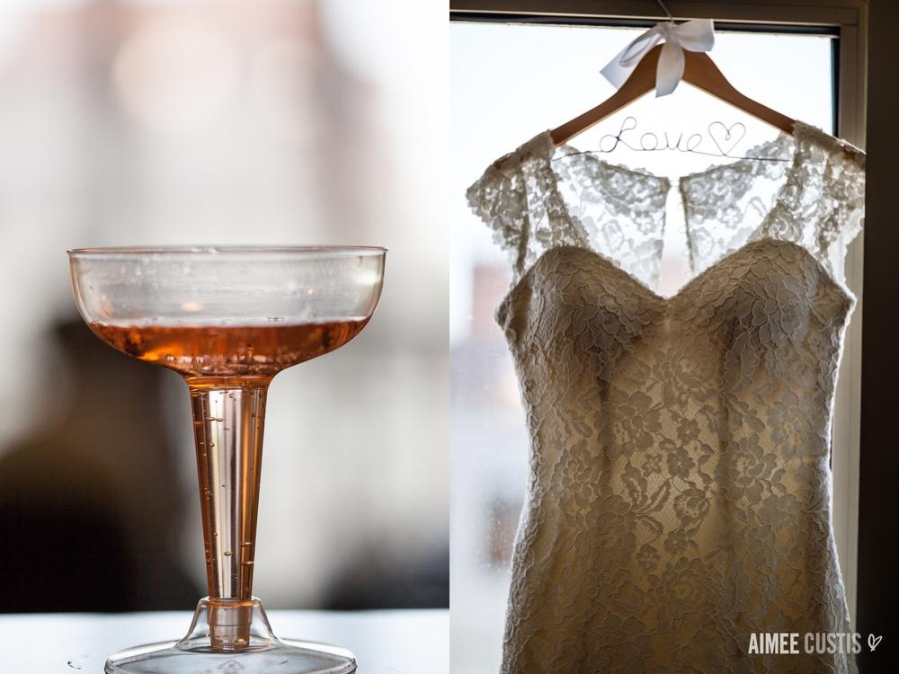wedding dress details champagne