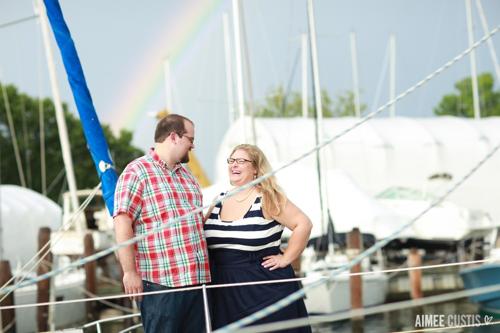 Annapolis waterfront engagement session