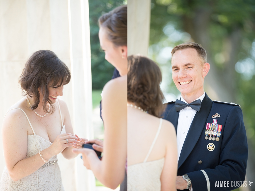DC War Memorial wedding photography