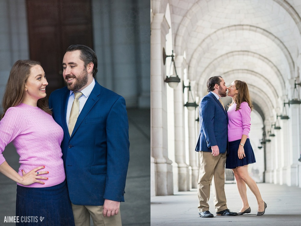 DC Union Station engagement photos