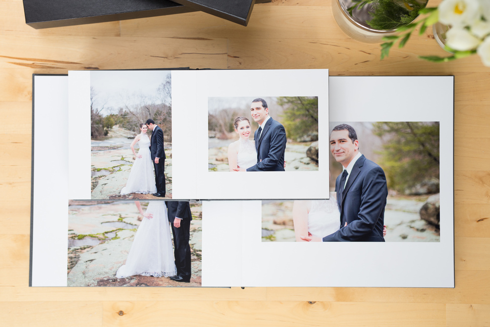 Aimee Custis Photography layflat wedding album