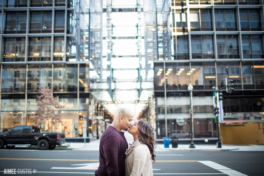 CityCenter DC downtown engagement session
