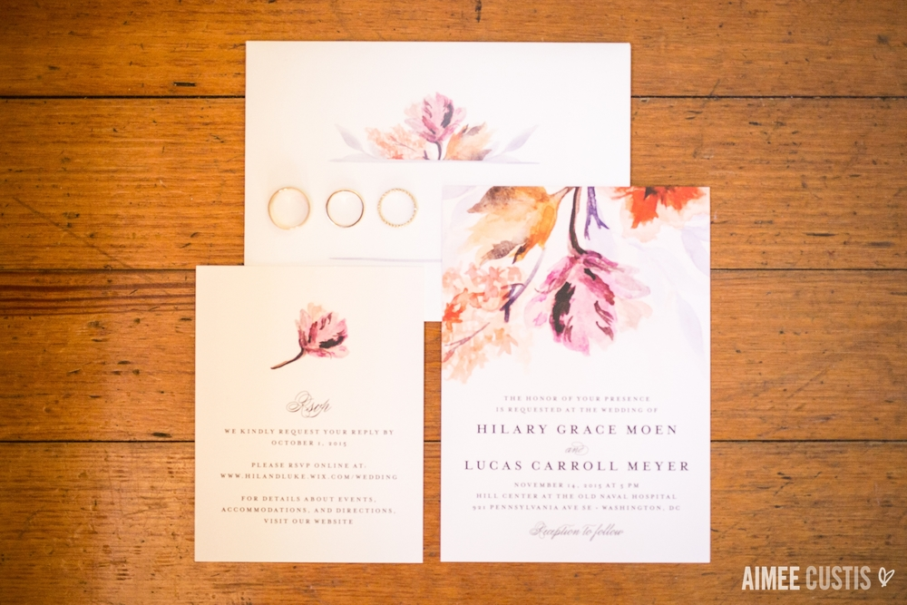 romantic Capitol Hill Washington DC Hill Center wedding photography invitation suite
