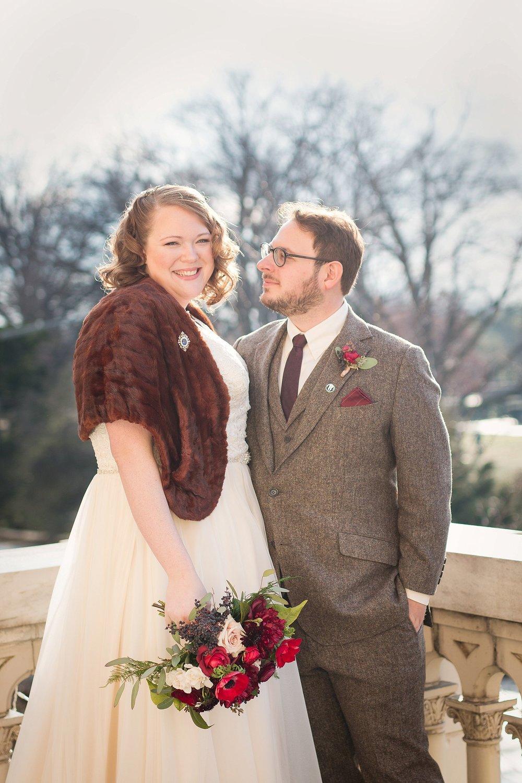 Cozy sunlit winter wedding at Josephine Butler Parks Center