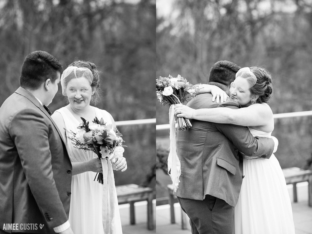 Brigid + Cara's Barns at Wolf Trap cheerful same-sex wedding