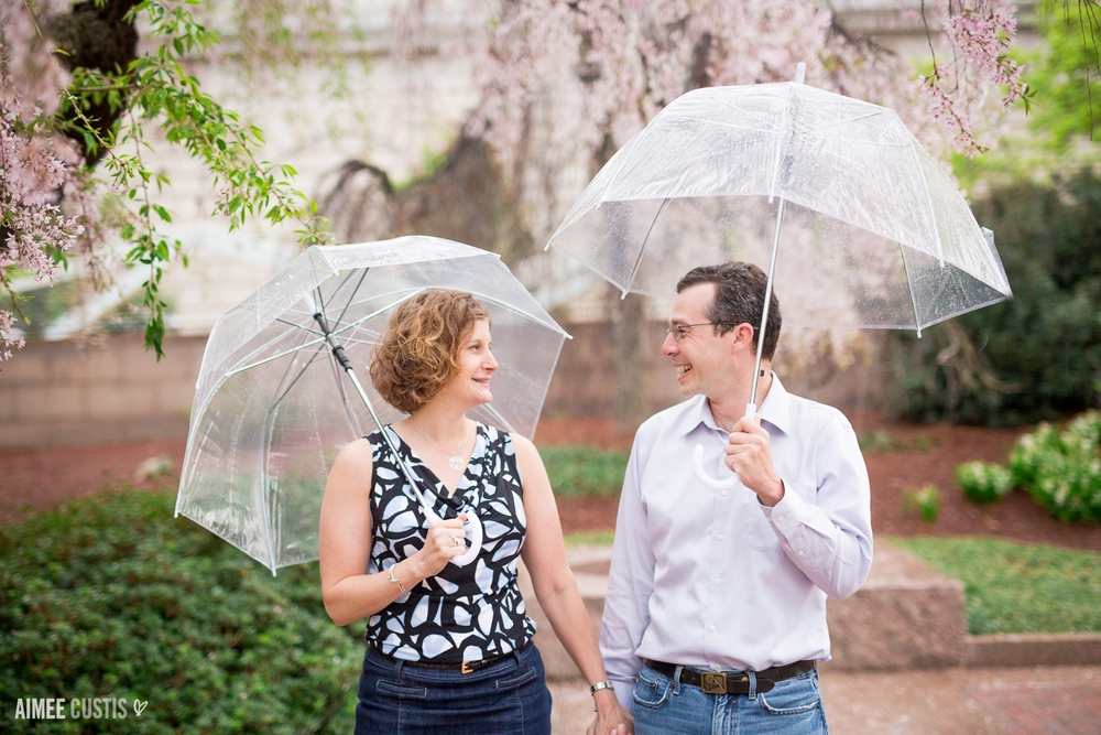 Enid A. Haupt Garden Smithsonian Castle DC engagement photography