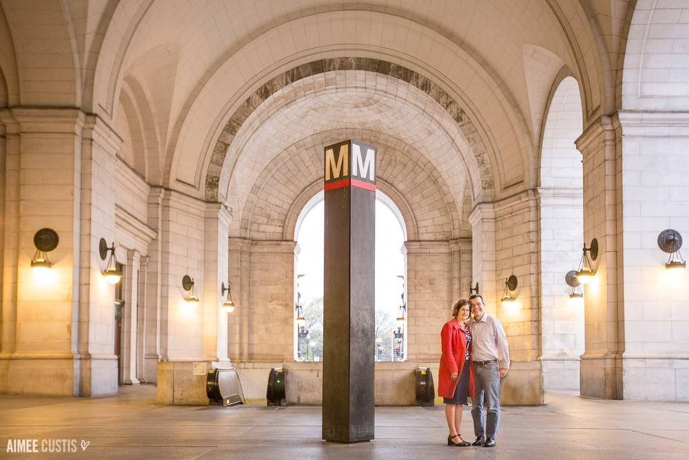 Union Station Washington DC engagement photography