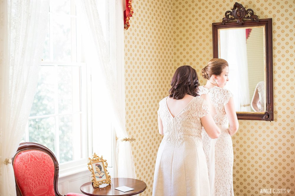 romantic timeless Lincoln's Cottage wedding photography