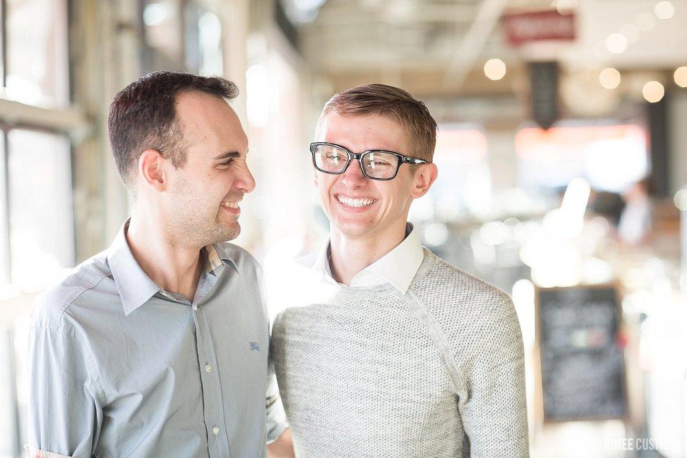 union market artistic same-sex washington dc wedding engagement photography