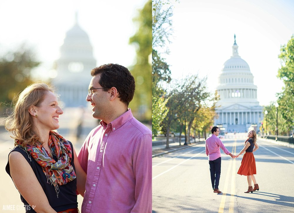DC US Capitol engagement session