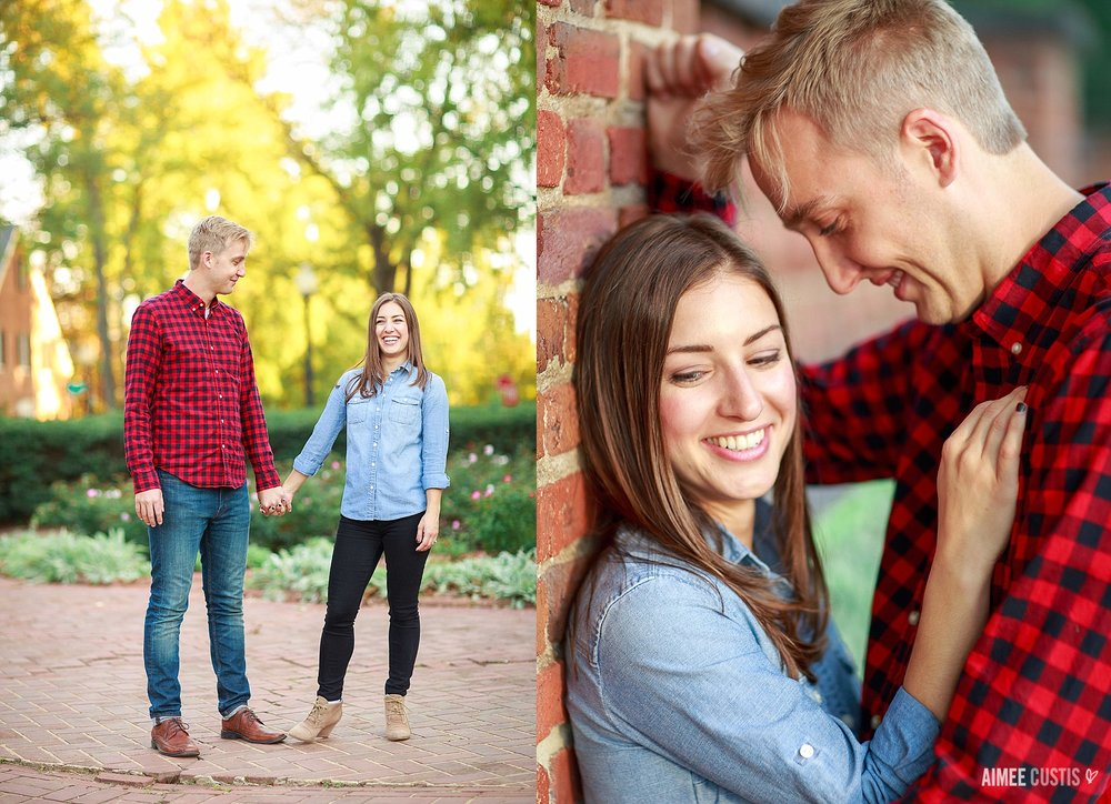 casual romantic park engagement photos DC