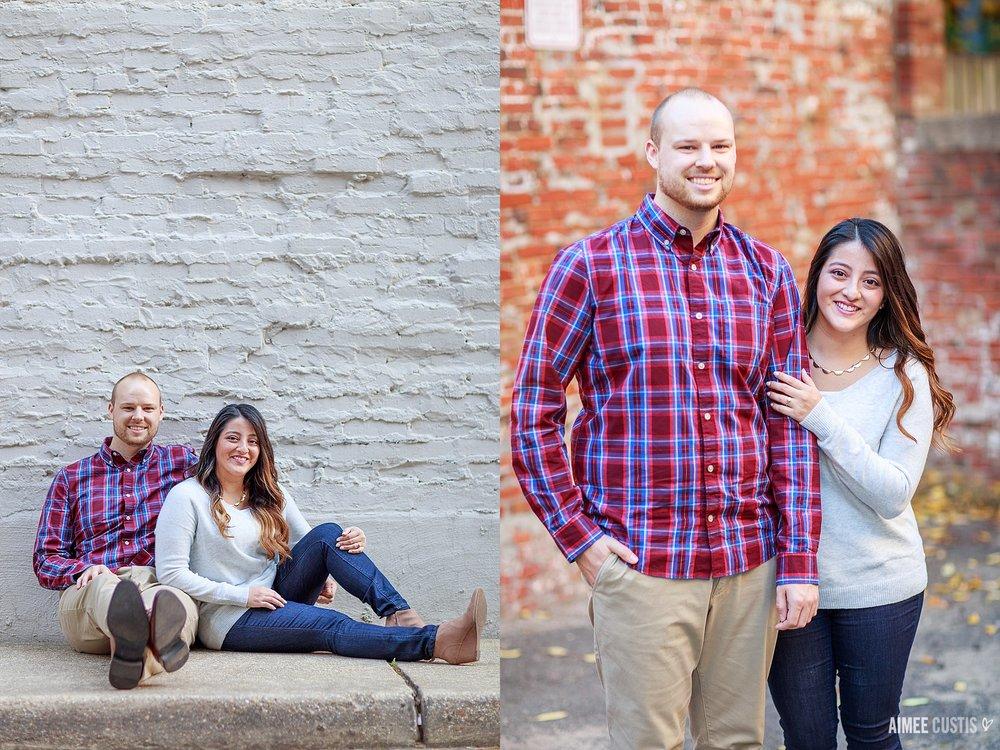 Washington DC Dupont Circle rowhouse engagement photos