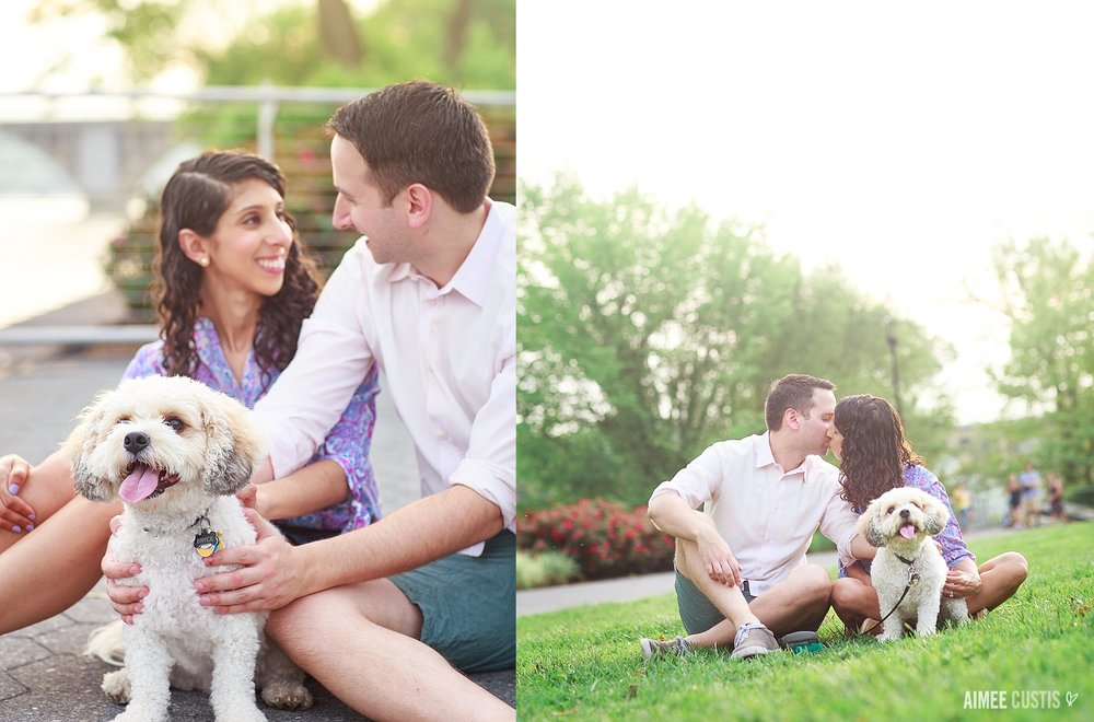 colorful engagement photography DC