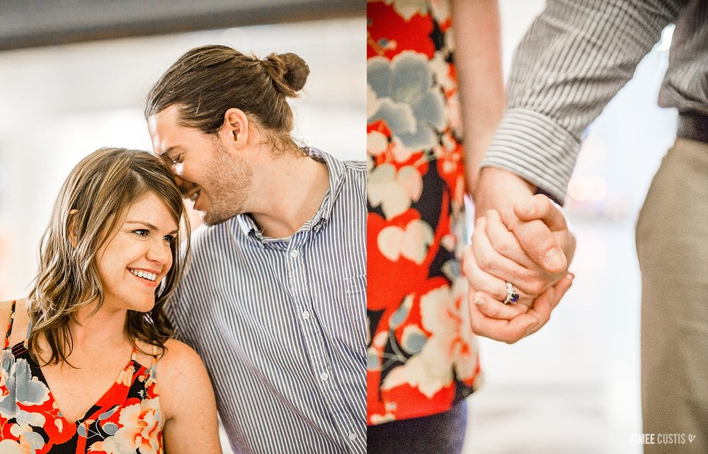 Colorful US Capitol engagement session at DC Union Station