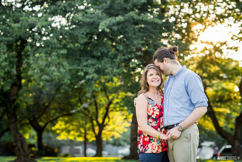 Colorful US Capitol engagement session at Lower Senate Park