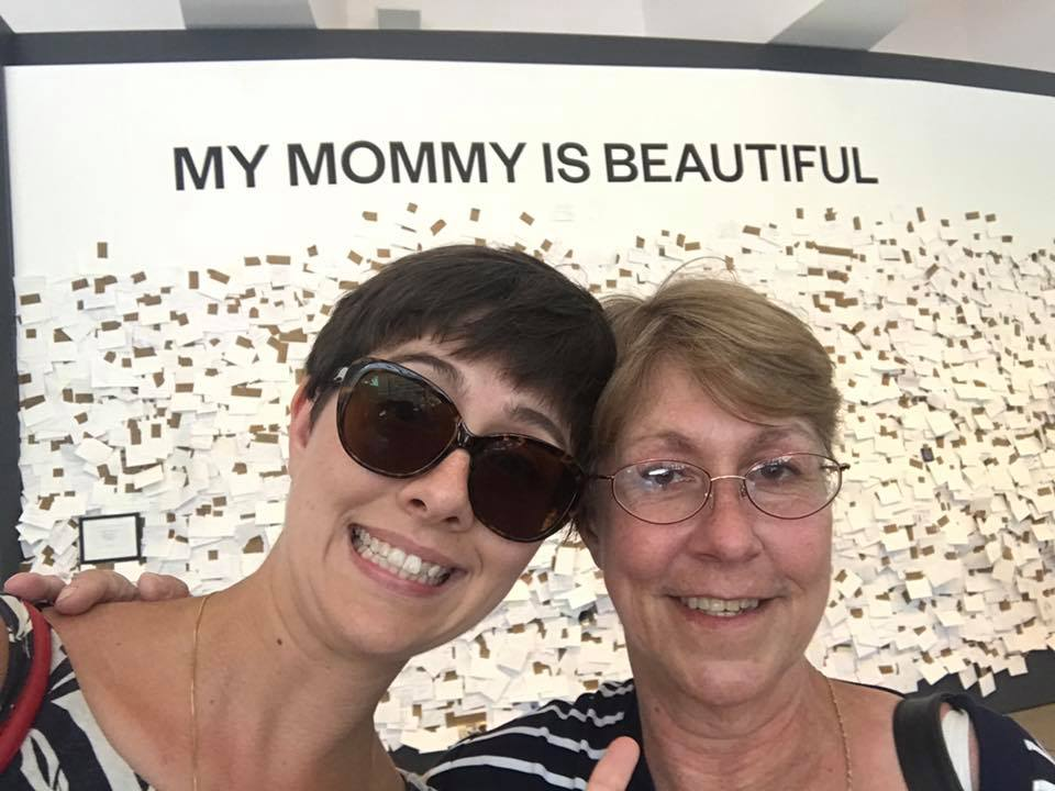 My mom and I wandered serendipitously wandered into this exhibit at the Hirschhorn.