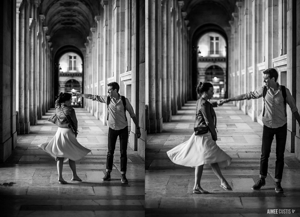Megan + Nate's Paris destination newlywed session at Jardins des Tuileries