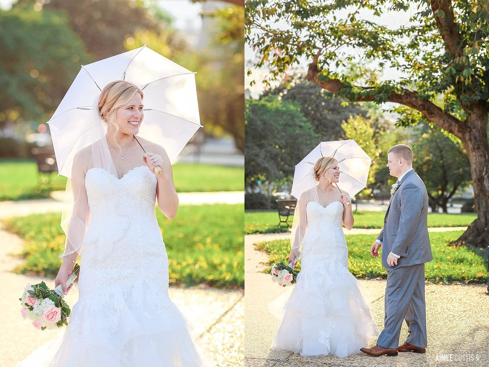 Washington DC US Capitol Senate Gardens wedding photos