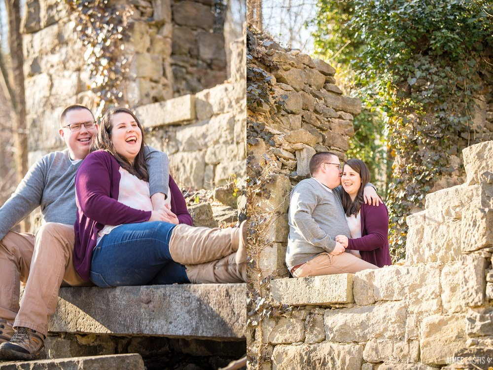 Ellicott City woodsy engagement session