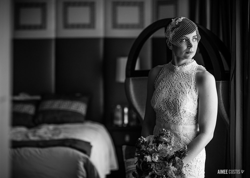 On the other hand, when your bride and her bridal suite could anchor a major ad campaign, you go with the mood.