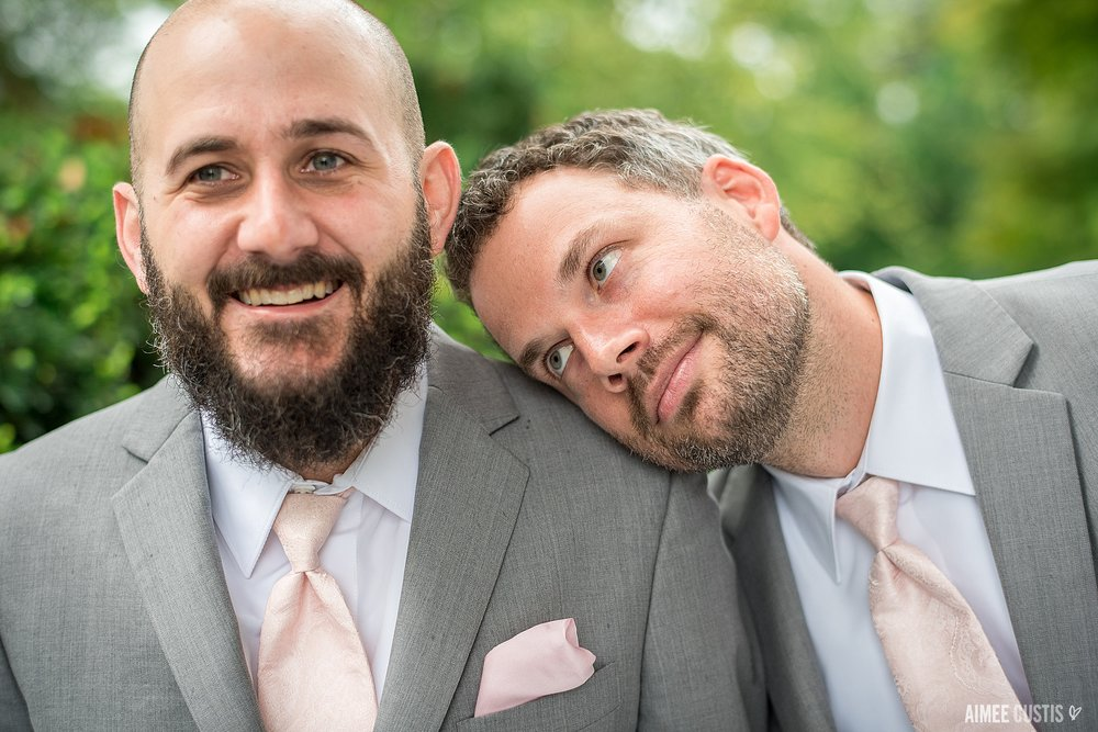 There's always room for bromance on a wedding day.