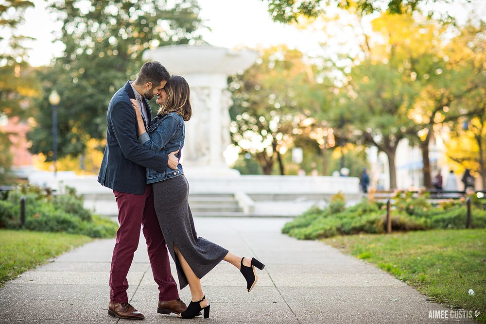 I love shooting in places that mean a lot to my couples, but I also love shooting in my own neighborhood. Dupont Circle, I'll never tire of you…