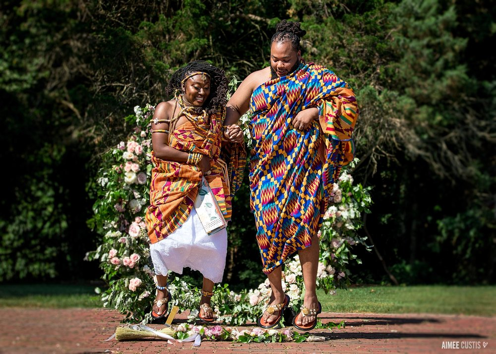 …And this traditional Kenyan ceremony at Mt. Airy Mansion, which they ended by jumping the broom, in honor and memory of so much history.
