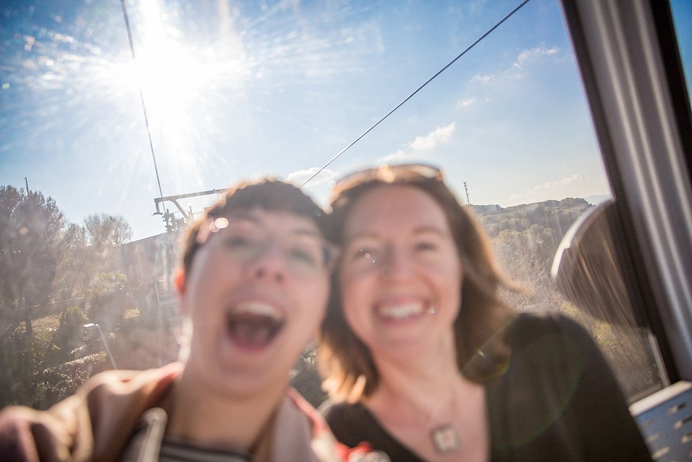 DSLR selfies are hard, especially when you don't turn off back button focus mode. Whatever, two out of two women in this photo agree that it's great and we love it just as-is.