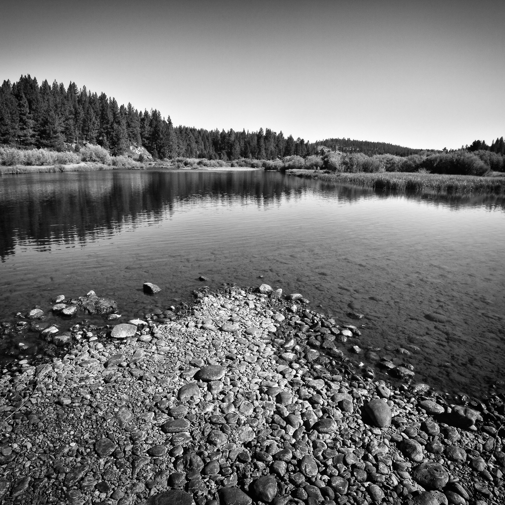 Gravel Bar, Little Truckee River, Sierra County, California