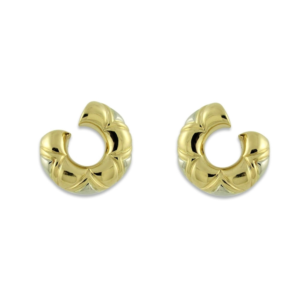 Burgari Gold and White Gold Earrings