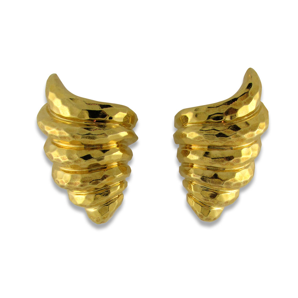 Gold Henry Dunay Earrings