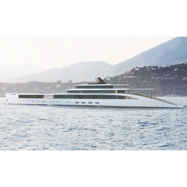 The absolutely stunning motor yacht, Soul to Soul. A 110 meter concept by the Netherlands design company, Sinot who also designed Musashi.     #yachtdesign#superyacht#megayacht#yacht#design#render#concept#beauty#wally#sunset#lifestyle#travel#luxury#fresh#theyachtcollective#netherlands#fresh (at New York City)