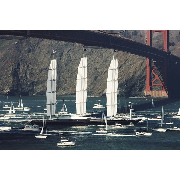 S/Y Maltese Falcon  I am already back in San Francisco after an eventful six months in New York City! Let's not forget the Superyachts this city can bring in ;)    #superyacht#design#megayacht#sailing#sail#yachtdesign#goldengatebridge#sanfrancisco#sf#maltesefalcon#italiandesign (at San Francisco, CA)