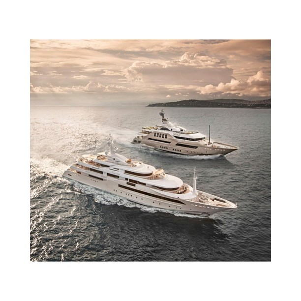 Goodmorning from CRN Yachts. Front: Chopi Chopi Back: J'ade Which one would you take around the world? (at San Francisco, CA)