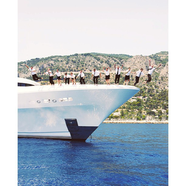 Let's jump into this day and not forget to just have fun!  I:D Yacht     #crew#yacht#superyacht#megayacht#yachtie#lifestyle#leapoffaith#jump#yachtcrew