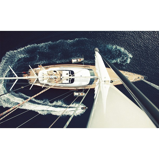Let's start the day with a fresh perspective. Perini Navi has been so successful in their latest designs because of their affinity for creating the classic modern sailing yacht; while still pursuing innovation in new territories like the Maltese Falcon. 56m S/Y Panthalassa Builder: Perini Navi Designer: Ron Holland/Perini Navi