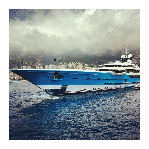 There is a helicopter stored inside of that bow! If you want to follow the best Broker at Sunseeker follow my friend @hbh1. He knows how to do it at #lerascasse in Monaco!