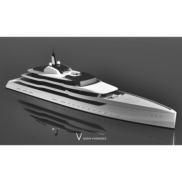 Here is the follow up rendering to the diagrams. Designed by California based Adam Voorhees he takes a fairly classic approach to the skin and tectonic system while really having fun programmatically. I would urge you to see more of his work.#minimalist#beautiful#exotic#yacht#design#yachtclub#yachts#yachtdesign#luxuryyacht#luxury#yachtie#yachtcrew#superyacht#megayacht#sailing#boat#blue#yachtculture#aesthetic#proportion#contemporary#theyachtcollective#rendering#concept@adamvoorhees