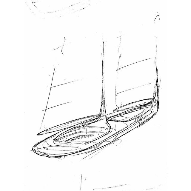 Monday morning sketching #sail#yacht#drawing