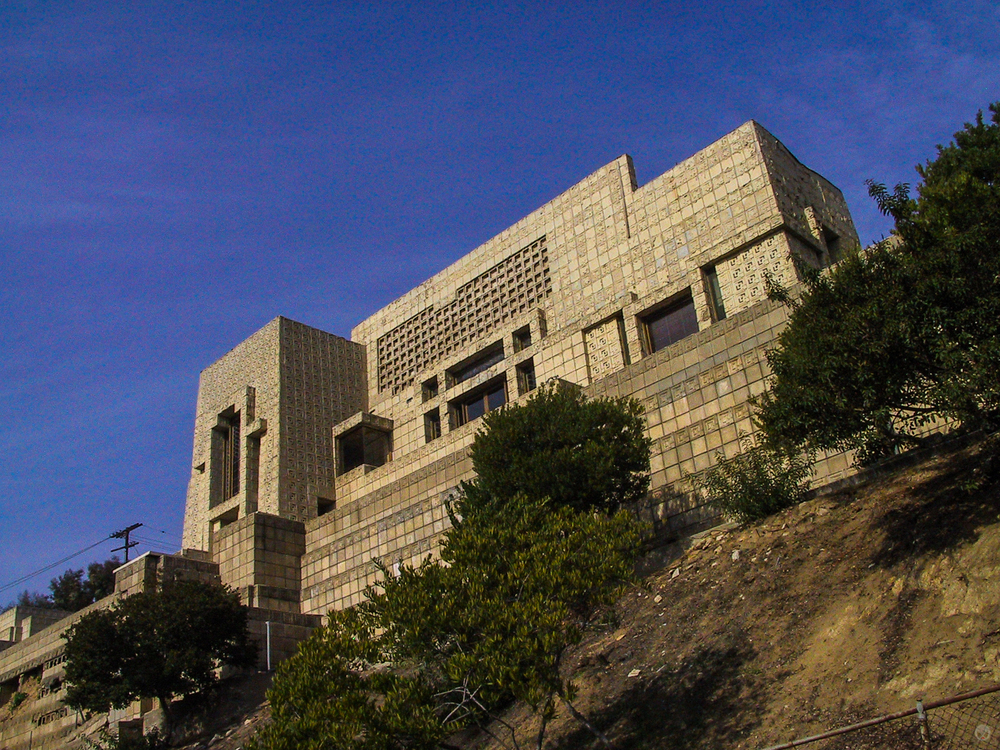 The house showing damaged sections.