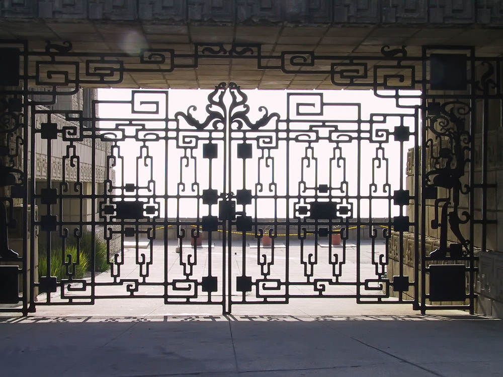 The gated entry.