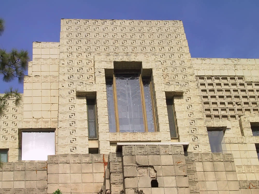 The windows - while striking - are not Wright's original design.
