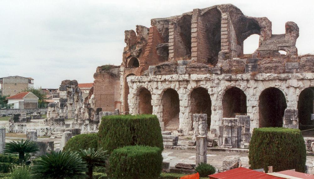 Amphitheatre, Capua (present day Santa Maria Capua Vetere), Ital