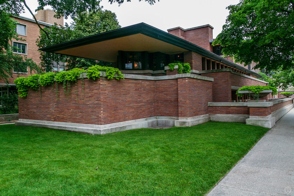 The Robie House as seen from the corner of S. Woodlawn Ave & E. 58th St.