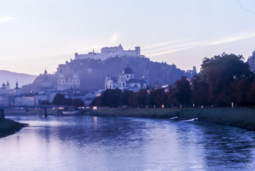 Salzburg in the morning.