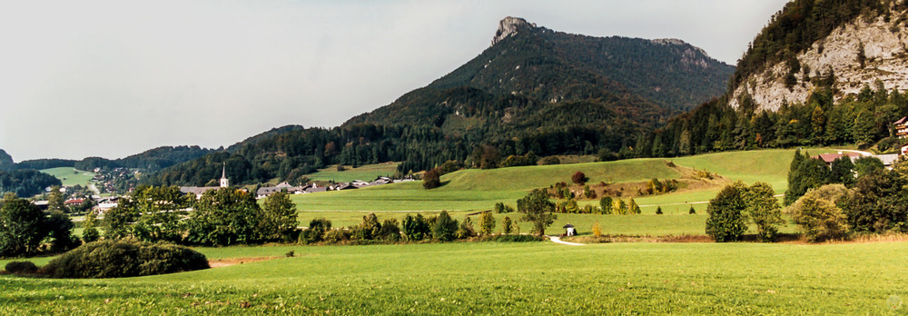 The landscape near Mondsee.
